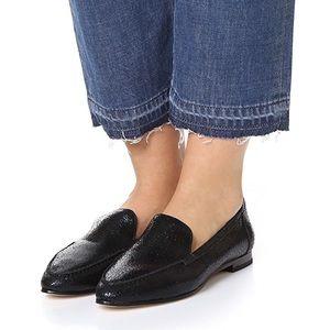 Kate Spade 'Carima' MISMATCH Black Leather Loafer
